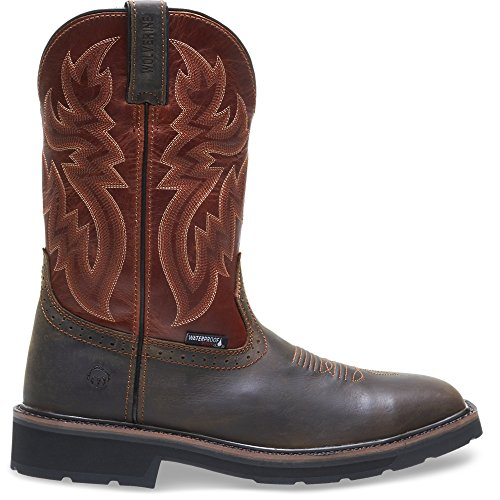 Wolverine Men's Rancher Wpf Soft Toe Wellington Work Boot,Rust/Brown,12 D US