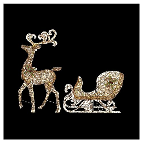 Outdoor Lighted Grapevine Deer - 4