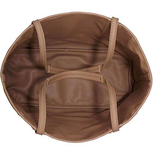 Xardi London reversibile 2in 1grande borsa donne maternità borse a tracolla da donna in pelle sintetica Black/Nude