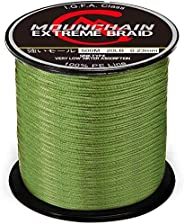 MOUNCHAIN 100% PE 4 & 8 Strands Braided Fishing Line, 10 20 30 40 LB Sensitive Braided Lines, Super Perfor