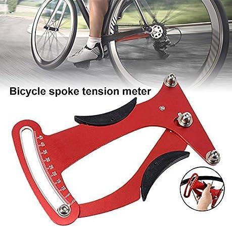 Yanggradel Aleación Aluminio Bicicleta Herramientas Reparación Bicicleta Spoke Tensión Medidor Medidas para Bicicleta Reparación: Amazon.es: Deportes y aire libre