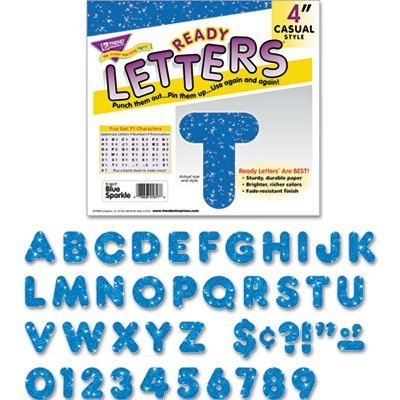 TEPT1617 - Trend 4 Sparkle Uppercase Ready Letters Set