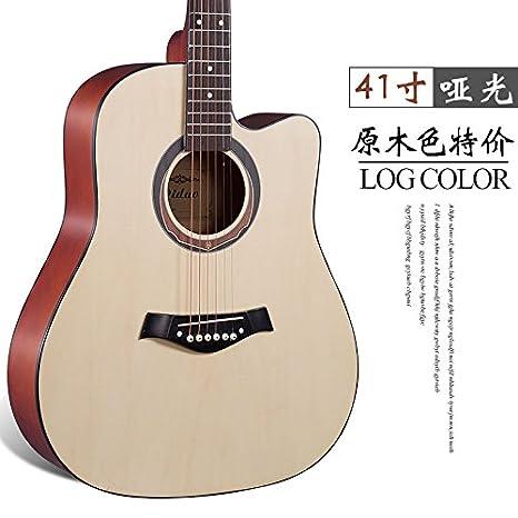 X-XIN Principiante De Guitarra Folk Guitarra Entrada De Madera De ...