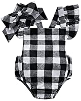 Baywell Baby Girl Romper Outfit Set, Sleeveless...