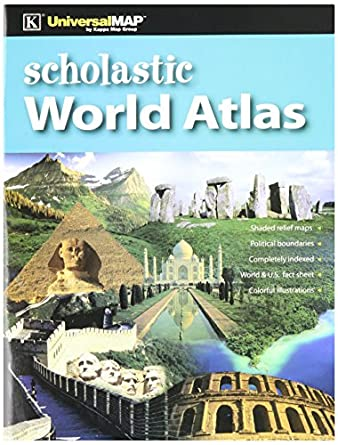 Amazon kappa map 11768 world atlas scholastic edition 85 kappa map 11768 world atlas scholastic edition 85quot height 013quot gumiabroncs