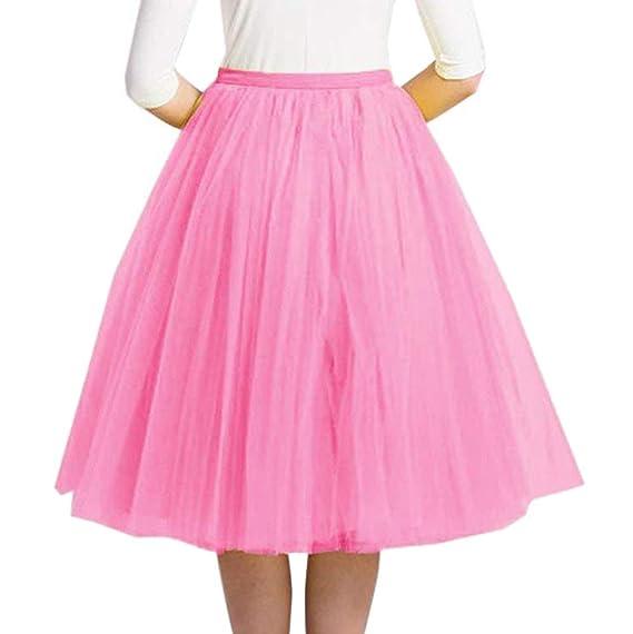Minetom Mujer Niña Faldas Cortas Tubo Moda Lujo Suave Gasa Mini ...