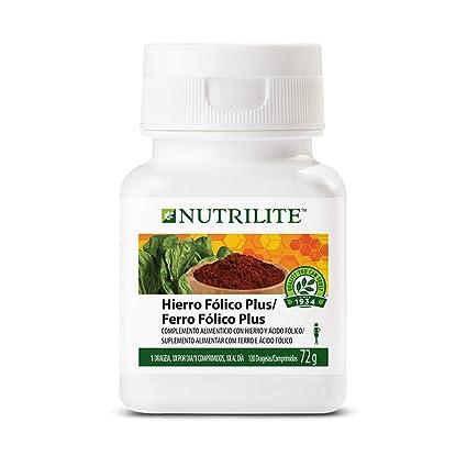 Hierro Fólico Plus NUTRILITE 120 comprimidos Hierro Fólico Plus NUTRILITE proporciona hierro proveniente de dos fuentes