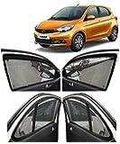 Autofact Car Accessories Zipper Magnetic Sunshades Compatible for Tata Tiago