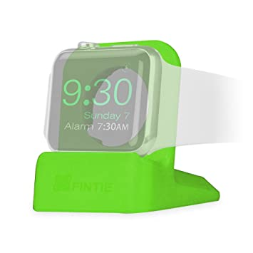 hot sale online 0c41b 8e735 FINTIE Watch Stand Holder for Apple Watch - Scratch Resistant Silicone  Charging Dock Station with Non-slip Base, Multi-Wire Slot for Apple Watch  ...