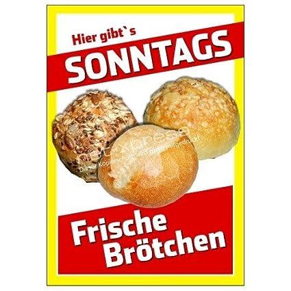 Cartel Sonntagsbrötchen-verkauf Din A1, Cartel de Publicidad ...