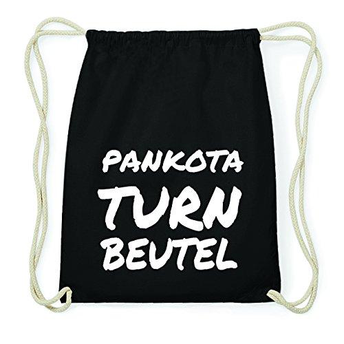JOllify PANKOTA Hipster Turnbeutel Tasche Rucksack aus Baumwolle - Farbe: schwarz Design: Turnbeutel yZ01xZC