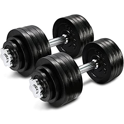 105 lbs Adjustable Cast Iron Dumbbells - ²DWP2Z