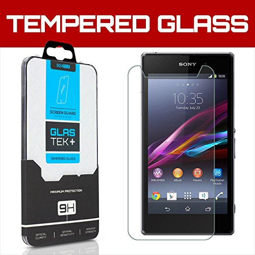 SOJITEK Sony Xperia Z1 i1 Honami C906 Z1S C6916 Premium Ballistic Tempered Glass Screen Protector with High Definition (HD) Ultra Clear 99.99% Clarity and Touchscreen Accuracy Smart Film