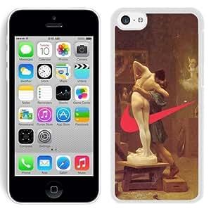 NEW Unique Custom Designed iPhone 5C Phone Case With Valentines Just Do It Nike_White Phone Case hjbrhga1544