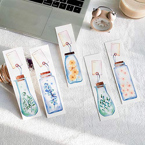 (Office Decoration Bookmarks and Clips - Pcs/Pack Lucky Plant in The Bottle Card Bookmark Mark of Page Decorative Stationery Film School Office Supply 1)