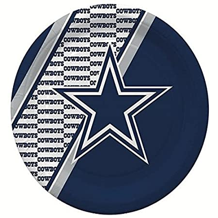 4e91d3d7941bf6 Amazon.com: NFL Dallas Cowboys Disposable Party Pack (Plates, Cups, Forks,  Napkins): Sports & Outdoors