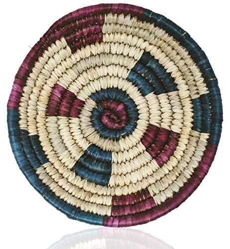 MoLi Round Woven Basket Bowl African 14