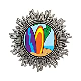 GiftJewelryShop Ancient Style Silver Plate Travel Sand Beach Sun Shape Pins Brooch