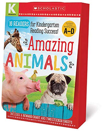 Amazing Animals Kindergarten A-D Reader Box Set (Scholastic Early Learners)