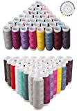 79pcs Premium Sewing kit,  Sewing Accessories, 39pcs Spools Sewing Threads Polyester & 40pcs Round Sewing Corsage Straight Dressmaking Pins for Quilting Stitching Knitting