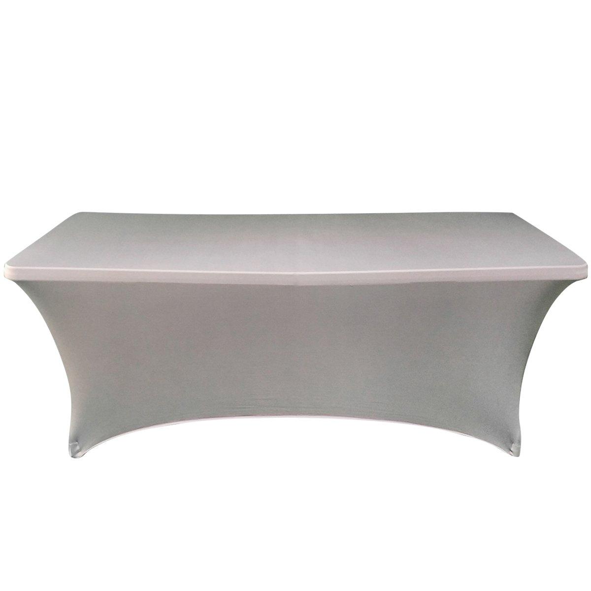 Ebeta Coperture per tavoli, rettangolare Copritavolo, Coperture per tavoli da birra  copertura estensibile 183*76*76 cm (Grigio)