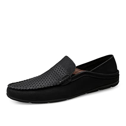Men/'s Driving Casual Boat Genuine Leather soft Shoes Moccasin Slip On Loafers