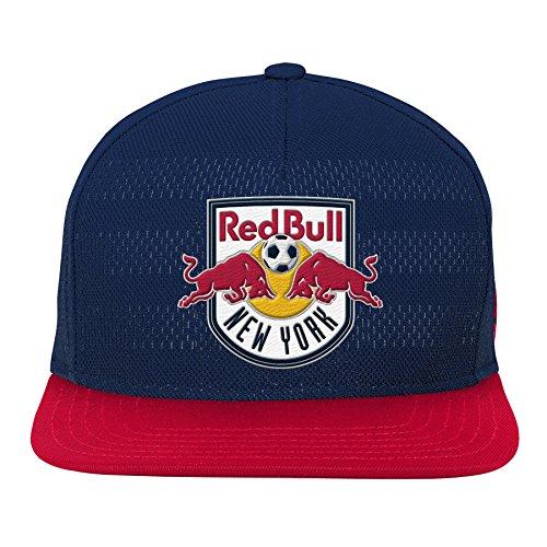MLS New York Red Bulls Youth Boys Authentic Flatbrim Snapback, 1 Size, New Navy
