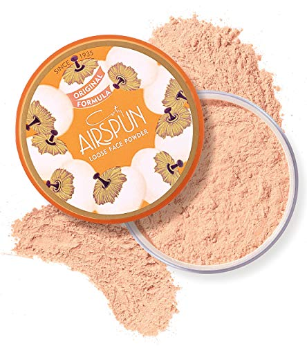 Coty Airspun Loose Face Powder 2.3 oz. Rosey Beige Tone Loose Face Powder, for Setting Makeup or Foundation, Lightweight, Long Lasting, Pink