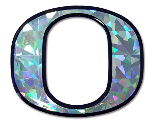 Oregon Ducks Silver Reflective 3D Decal Domed Auto Sticker Emblem ()