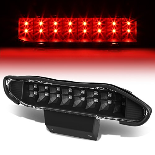 (For Nissan Xterra WD22 Rear High Mount Dual Row LED 3rd Tail Brake Light (Black Housing Clear Lens))