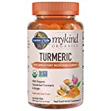 #6: Garden of Life mykind Organics Turmeric Inflammatory Response Gummy - 120 Real Fruit Gummies for Kids & Adults, 50mg Curcumin (95% Curcuminoids), No Added Sugar, Organic, Non-GMO, Vegan & Gluten Free