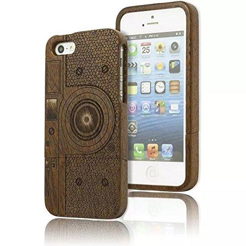 104 opinioni per iPhone 6 Custodia Caso di legno, Vandot Reali Genuini Handmade di Bastone