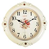 FortuneVin Wall Clock Silent movement Wall Clock Home Office Decor for Living Room Bedroom Kitchen Clock Wall 16 In Silent, Wall Table Creative Quartz16 India40.5Cm Flower Classic White