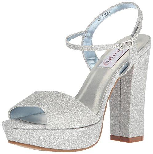 Dyeables, Inc Womens Women's Whitta Platform Dress Sandal Silver 7 M US