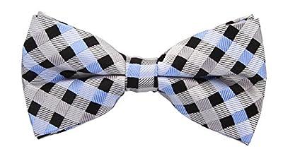 Scott Allan Men's Silk Checkered Bow Tie