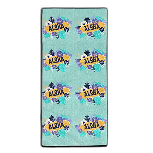 Aloha Surfboard Tropical Hawaii Towel For Sports,Workout,Fitness,Gym, Yoga,Pilates,Travel,Camping & More