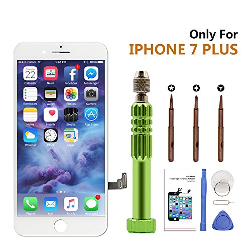 iPhone 7 Plus Screen Replacement, LCD Display Digitizer 3D Touch Screen Frame Assembly Replacement Kits for iPhone 7 Plus Screen White (5.5 inch)
