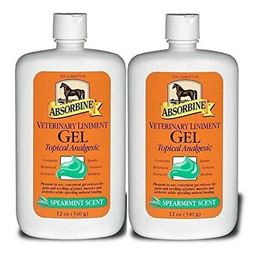 Absorbine Veterinary 2 Pack Liniment Gel Gel Muscle Joint Relief 12oz by Absorbine Veterinary
