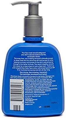 Cetaphil Men Daily Face Wash, 8 Ounce (Pack of 2) by Galderma Laboratories, Inc