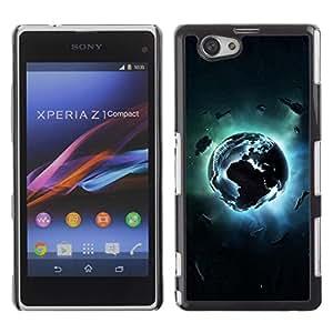 Be Good Phone Accessory // Dura Cáscara cubierta Protectora Caso Carcasa Funda de Protección para Sony Xperia Z1 Compact D5503 // Planet Explosion