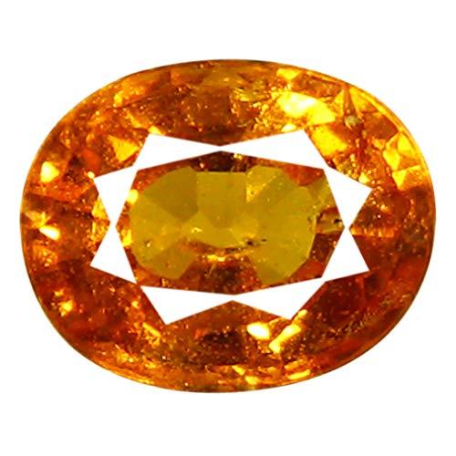 1.23 ct AAA Oval Shape (7 x 5 mm) Unheated/Untreated Fanta Orange Tanzanian Spessartine Garnet Genuine Loose Gemstone