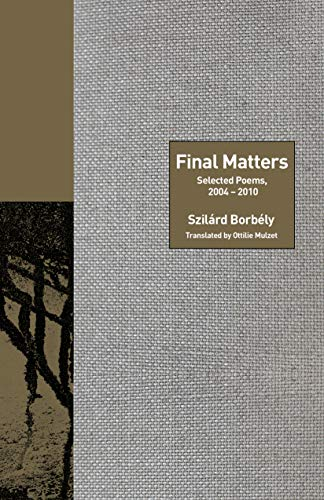 Image of Final Matters: Selected Poems, 2004-2010 (Lockert Library of Poetry in Translation)