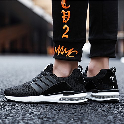 Noir Outdoor Fitness Baskets Chaussures Femme Running Respirante Sports Mixte Course Air mastery De Casual Shoes Gym H Adulte Homme Sneakers ZH77Bw
