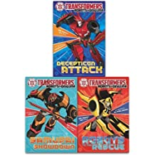 Transformers, Robots in Disguise, 3 Childrens Books Story Collection Set As Seen on TV (Transformers, Robots in Disguise Series)