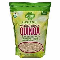 Wellsley Farms Organic Whole Grain Quinoa, 2 lbs. (pack of 2)