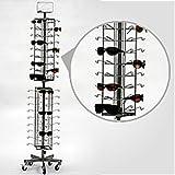 New Economy 72 Sunglasses Floor Standing Spinner Display Rack Silver Frame