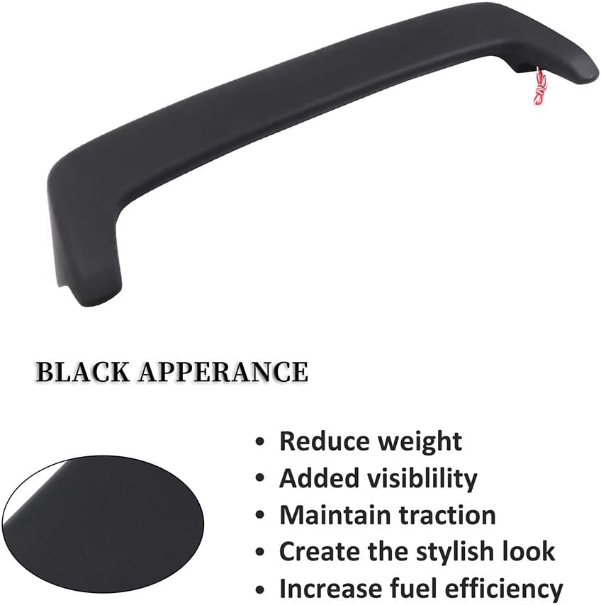 cciyu Black ABS Rear Roof Spoiler Wing for 1997 1998 1999 2000 2001 for Honda CR-V Stylish Trunk Spoiler Wing Brake Light