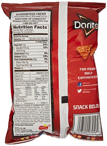 028400070560 - Doritos Nacho Cheese Flavored Tortilla Chips, 1.75 Ounce (Pack of 64) carousel main 4