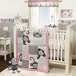Bedtime Originals Crib Bumper, Pinkie - Pink and Grey