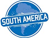 South America Map Stamp Home Decal Vinyl Sticker 14'' X 11''